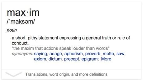 Maxim Definition