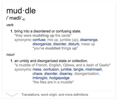 Muddle Definition