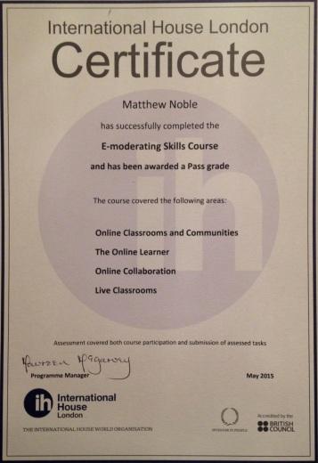E-Mod Course Certificate